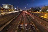 Atlanta Interstate 85 Freeway Night — Stock Photo