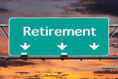 Freeway to Retirement Road Sign — Foto de Stock