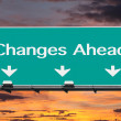 Changes Ahead Freeway Road Sign — Stock Photo #46175087