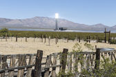 Mojave Desert Solar Industrial Transition — Foto Stock