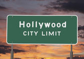 Hollywood City Limits Sign — Stock Photo