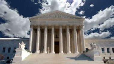 United States Supreme Court with Churning Clouds — Stock Video