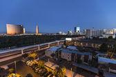 Las Vegas Monrail and Casino Resorts — Zdjęcie stockowe