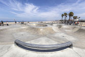 Public Skate Board Park in Venice Beach California — Stock Photo