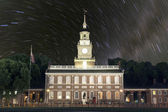 Independence Hall Star Trails  — Stock Photo
