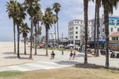 Venice Boardwalk Beach Bike Path — Stock Photo