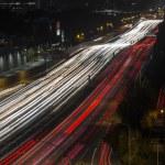 San Diego Freeway Los Angeles Night — Stock Photo #51547569