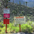 Area 51 Warning Signs — Stock Photo #43133201