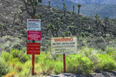 Area 51 Warning Signs — Stock Photo