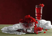 Still life with red currants — 图库照片