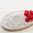 Oat bran with red currants - Stock Photo