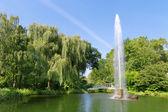 The fountain in the city park. Europe, Baden-Baden — Stok fotoğraf