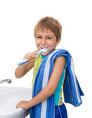 Little boy brushing his teeth — Stock Photo