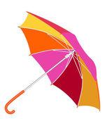 Guarda-chuva multicolorida sobre um fundo branco — Vetor de Stock