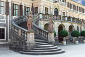 The front entrance to Favorite Castle was built by Johann Micha — Stock Photo