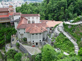 Medieval monastery in Switzerland. Madonna del Sasso — Stock Photo