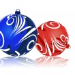 Vector de stock : Christmas balls.