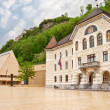 The building of parliaments of Liechtenstein on the main square. - Stock Photo