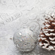 Royalty-Free Stock Photo: Christmas  ball on a brilliant background