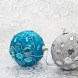 Christmas  ball on a brilliant background — Stock Photo