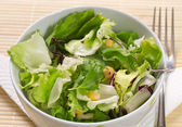 Fresh lettuce on a plate — Stock Photo