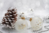 Christmas background with shiny balls — Stock Photo