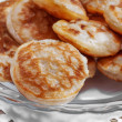 Mini pancakes on a plate — Stock Photo