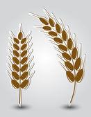 Nálepky v podobě uší pšenice — Stock vektor