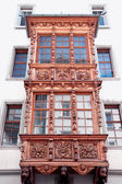 Painted facade of a historic building in the Swiss city Stein an — Stock Photo