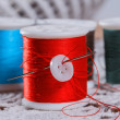 Stock Photo: Spools of thread