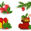 Set of Christmas icons — Stock Vector #35490859
