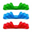 Stock Photo: Set of colorful bows. Isolate on white background.