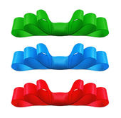 Set of colorful bows. Isolate on white background. — Stock Photo