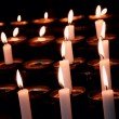 Burning candles in the church. — Stockfoto