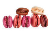 French macarons. Isolate on white background — Stock Photo