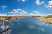 Panorama of the Rhine in Germany — Stock fotografie