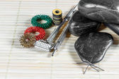 Instruments and accessories for acupuncture. — Stock Photo