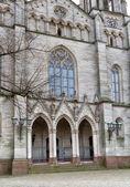 Entrance to Catholic church. Germany. Europe. — Stock Photo