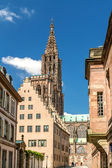 View on Strasbourg Cathedral from Rue Merciere — Foto Stock