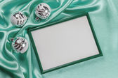 Christmas background with frame for photo  — Stock Photo