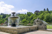 Fountain in the park of roses. Germany, Baden-Baden.  — Stock Photo