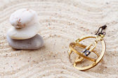 Sundial in the sand — Stock Photo