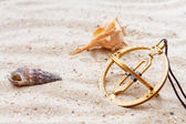 Sundial in the sand — Foto de Stock