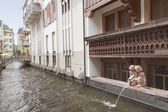 """District of Freiburg """"Little Venice"""" Europe. Germany. — Stock Photo"""