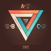 Modern infinite triangle origami style options banner. Vector illustration. — Stock Vector
