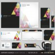 Corporate identity business set. Vector illustration. — Vettoriali Stock