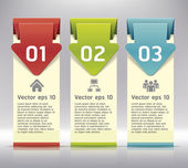 Colorful Origami Style Number Options Banner & Card. Vector illustration — Stock Vector