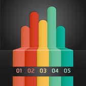 Colorful Infographics Number Options Banner & Card. Vector illustration — Stock Vector