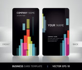 Business Card Set. Vector illustration. — Stock Vector