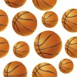 Basket balls Seamless pattern. Vector illustration — Stok Vektör